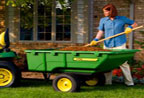 Follow link to the 17P Utility Cart for Ride-on Mowers product page.