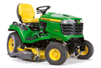 Follow link to the X734 Signature Series 4-Wheel Steer Tractor, Less Mower Deck product page.