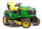 Follow link to the X739 Signature Series 4-Wheel Steer, 4-Wheel Drive Tractor, Less Mower Deck product page.