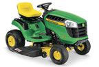 Follow link to the D110 Ride-On Mower product page.