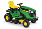 Follow link to the D130 Ride-On Mower product page.