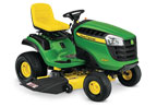 Follow link to the D140 Ride-On Mower product page.