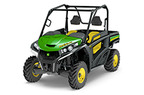 Follow link to the Gator™ RSX860i (Green & Yellow) Utility Vehicle product page.