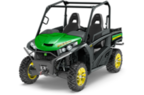 Follow link to the Gator™ RSX860i (Green & Yellow) Utility Vehicle Power Steering with WARN Winch and Protection Package product page.