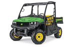 Follow link to the Gator™ XUV865M Utility Vehicle; Open Station with Black Roof (Pre-Order Only) product page.
