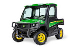 Follow link to the Gator™ XUV865R (Green & Yellow) Utility Vehicle; Cab + HVAC; Utility & Protection Package (Pre-Order Only) product page.