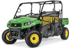 Follow link to the Gator™ XUV590M S4 (Green & Yellow) Utility Vehicle (MY18) product page.