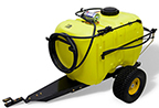 Follow link to the 45-Gallon (170.3 L) Tow-Behind Sprayer for Ride-on Mowers product page.